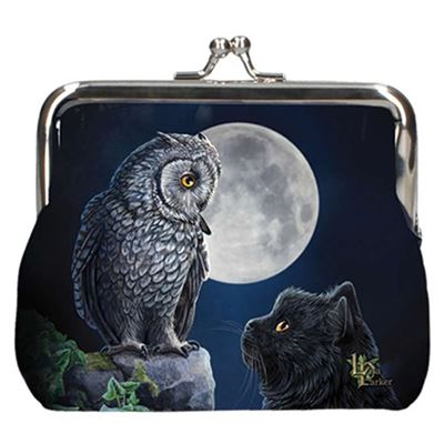 Cat, Owl and Moon Coin Purse