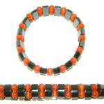 Catseye & Hematite Bracelet Orange