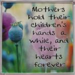 Fridge Magnet 020 Mothers hold their children`s hands a while