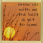 Fridge Magnet 026 Grow old with me the best is yet to come