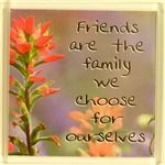 Fridge Magnet 031 Friends are like the family we choose for ourselves