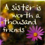 Fridge Magnet 039 A sister is worth a thousand friends