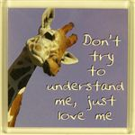 Fridge Magnet 044 Dont try to understand me, just love me
