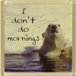 Fridge Magnet 045 I dont do mornings
