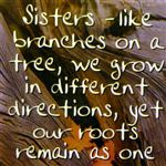 Fridge Magnet 053 Sisters - like branches on a tree