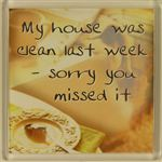 Fridge Magnet 105 My house was clean last week sorry you missed it