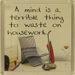 Fridge Magnet 116 A mind is a terrible thing to waste on housework