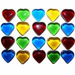 Glass Hearts Approx 200g Jar
