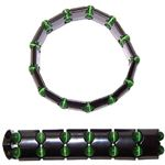 Magnetic Hematite Bracelet Wave Emerald Green