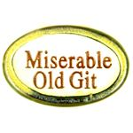 Miserable Old Git Ceramic Fridge Magnet