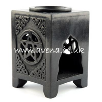 Pentagram Soapstone Oil Burner Large