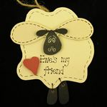 Sheep Plaque Wood (Ewes My Friend)