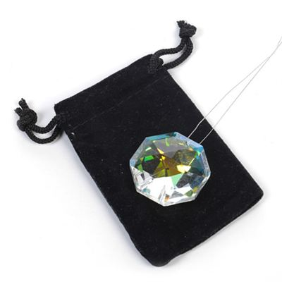 Crystal Octagon with Free Pouch