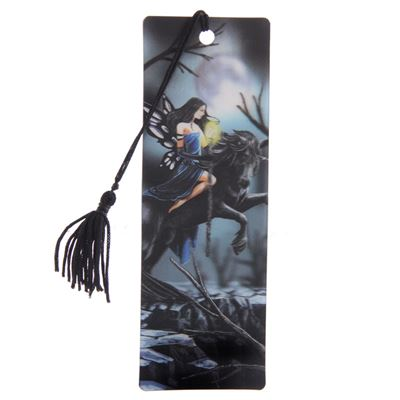 Fairy Riding Unicorn 3D Bookmark by Lisa Parker