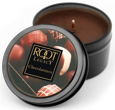 Chocolateness 30 Hour Root Legacy Candle in a Tin