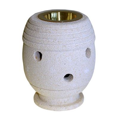 Indonesian Sandstone Oil Burner Round Classic