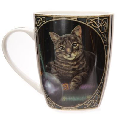 Fortune Telling Cat Bone China Mug