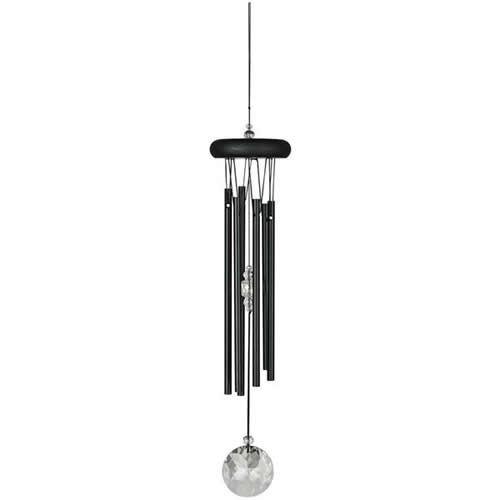 cristal m ditation carillon noir jardin d 39 ext rieur. Black Bedroom Furniture Sets. Home Design Ideas