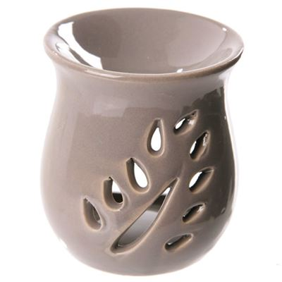 Grey Leaf Cut Out Oil Burner