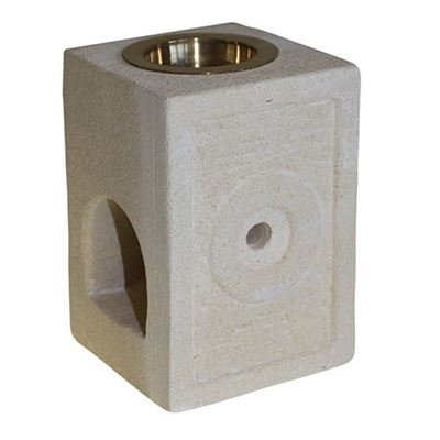 Indonesian Sandstone Oil Burner Square Moorish