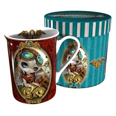 Clockwork Dragonling Mug in Gift Drum