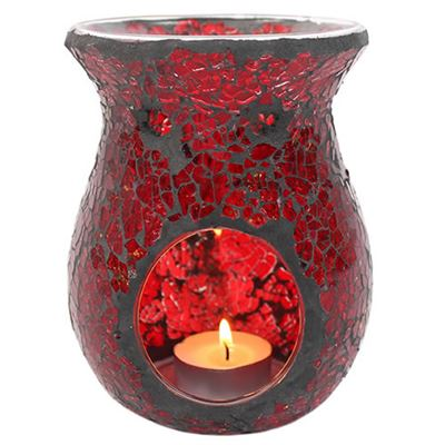 Red Mosaic Oil Burner Large