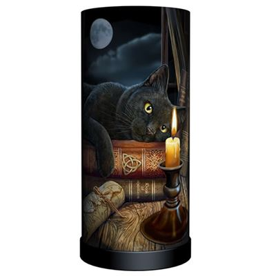 Black Cat & Candle Lamp
