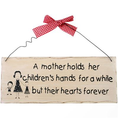 A Mother Holds Her Children's Hands… Shabby Plaque