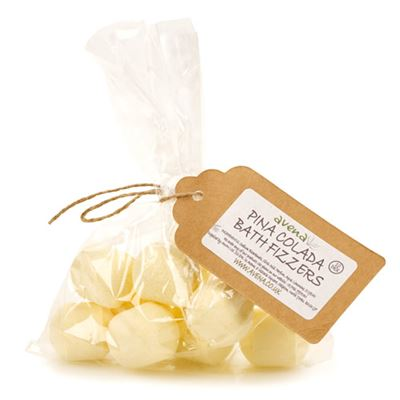 Pina Colada Bath Fizzers Gift Bag of 10