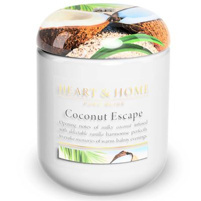 Coconut Escape Candle in Jar Extra Large 80 hours