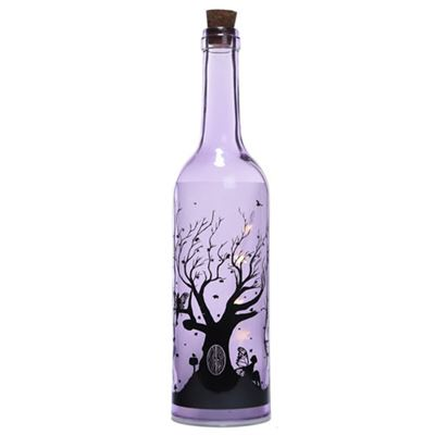 Purple Fairy Tree Bottle with LED Lights