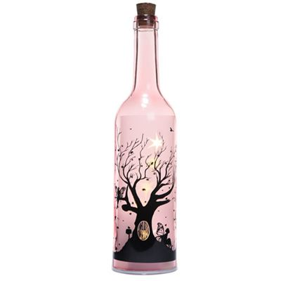 Pink Fairy Tree Bottle with LED Lights