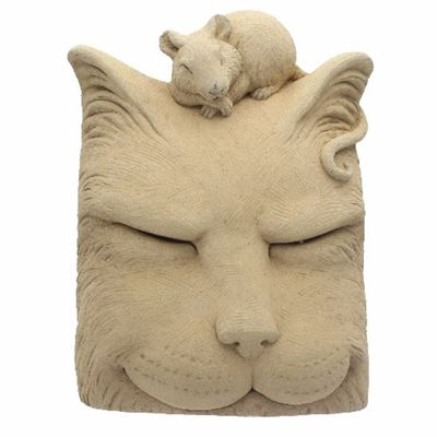 Cat Nap Cast Stone Decoration in Gift Box