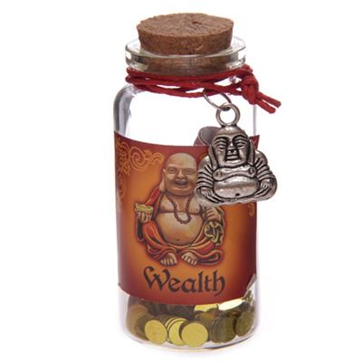 Wealth Mini Buddha Wishes Jar