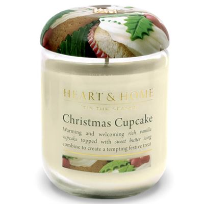 Christmas Cupcake Candle in Jar Extra Large 80 Hours