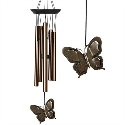 Butterfly Wind Chime Large Bronze Woodstock