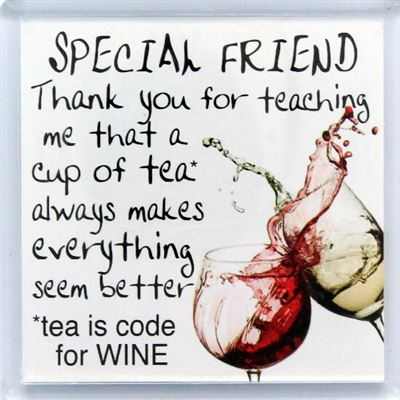 SPECIAL FRIEND thank you for teaching me Fridge Magnet 137