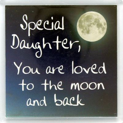 Special daughter, you are loved to the moon and back Fridge Magnet 32