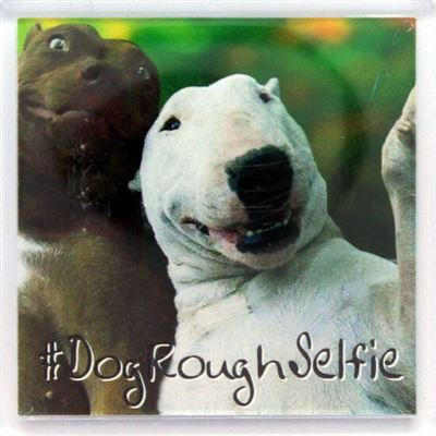 DogRoughSelfie Fridge Magnet 72