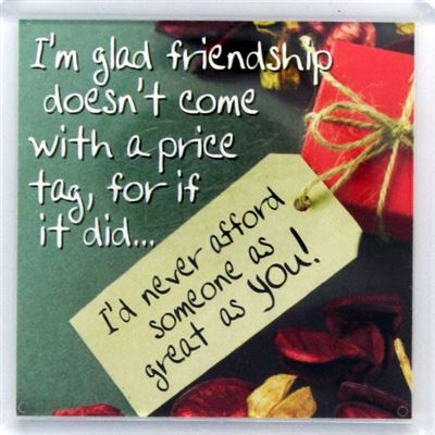 I'm glad friendship doesn't come with a price tag Fridge Magnet 121