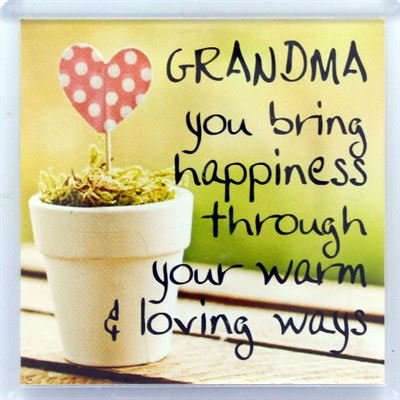 Grandma you bring happiness Fridge Magnet 62