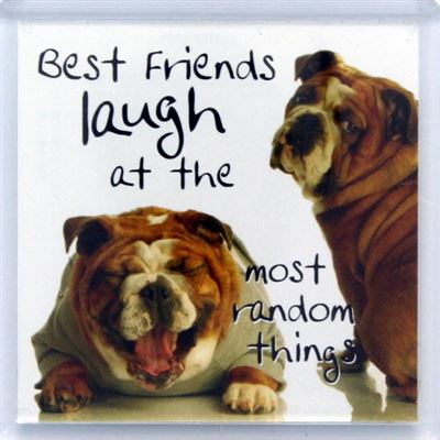 Best Friends laugh at the most random things Fridge Magnet 136