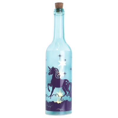 Blue Unicorn Bottle with LED Lights