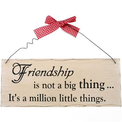 Friendship Is Not A Big Thing Shabby Plaque