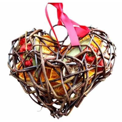 Fruit Wicker Heart Large