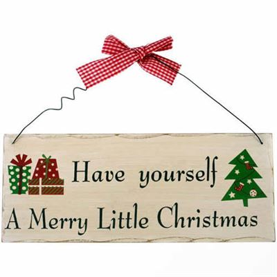 Merry Little Christmas Shabby Plaque