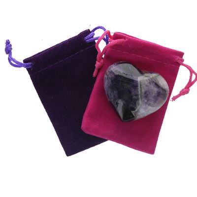 Amethyst Chevron Heart Large in Pouch