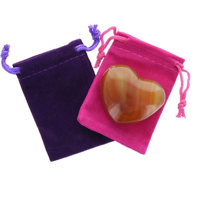 Carnelian Heart Large in Pouch