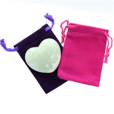 New Jade Heart Large in Pouch