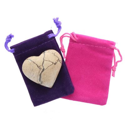 Pink Marble Heart Large in Pouch